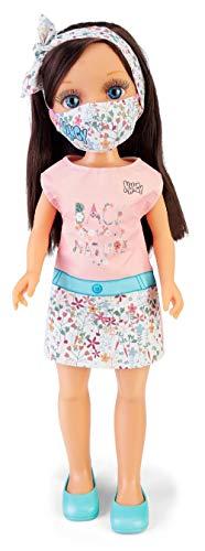 Nancy, un día con mascarilla Trendy, muñeca con mascarilla para niños y niñas a...