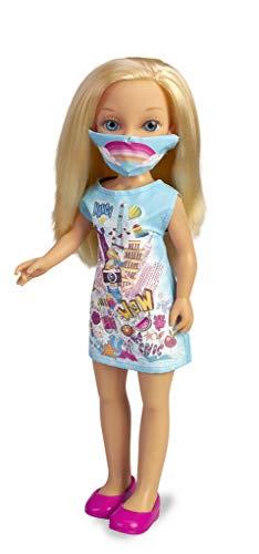 Nancy - Un día con mascarilla, muñeca para niñas con mascarilla (Famosa 700016212)