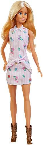 Barbie - Fashionista Muñeca Rubia con Vestido de Flores (Mattel FXL52) ,...