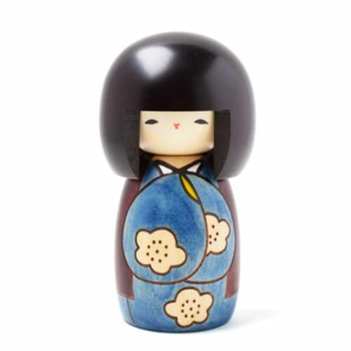 Usaburo sosaku muñeca Kokeshi Kojitsu Azul No.19 Fabricado en Japón