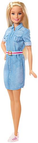 Barbie Dreamhouse Adventure muñeca rubia con vestido vaquero y accesorios, regalo...