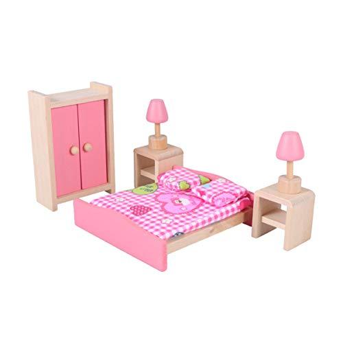 Toyvian Conjunto de Muebles de casa de muñecas de Madera Mini Muebles Accesorios de...