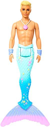 Barbie Dreamtopia Muñeco Ken Tritón, regalo para niñas y niños 3-9 años (Mattel...