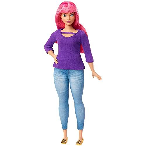 Barbie Dreamhouse Adventure Daisy muñeca curvy con pelo rosa y accesorios (Mattel...