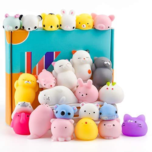 KUUQA 25Pcs linda Squeeze juguetes animales Squishie Panda pata del gato Mini suave...
