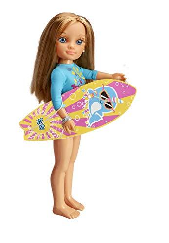NANCY-Un día Haciendo Surf, Incluye Muñeca con Tabla y Neopreno, para niñas a...