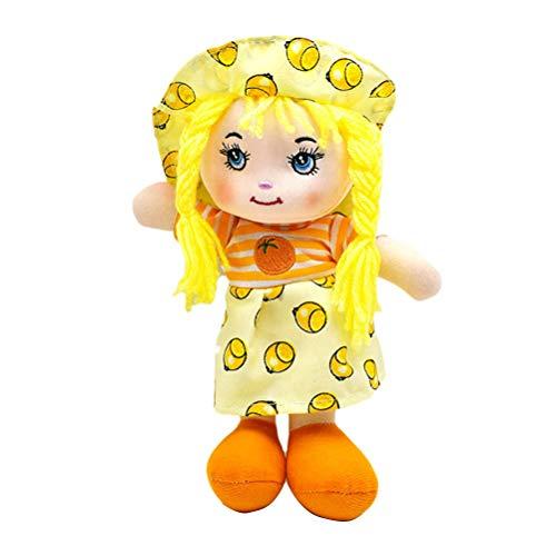 Knowooh Chica muñeca Fruta Falda Suave muñeca de Trapo bebé Juguete Educativo,...