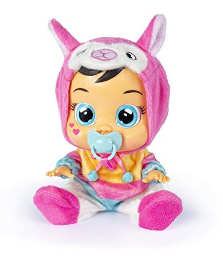 Bebés Llorones Lena - Muñeca interactiva que llora de verdad con chupete y pijama...