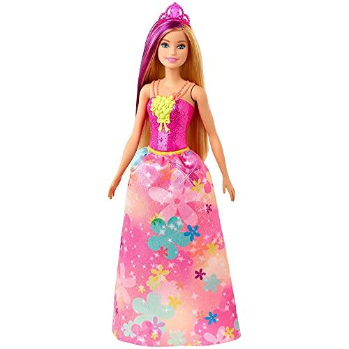 Barbie Dreamtopia Muñeca Hada con top rosa y falta flores (Mattel GJK13) ,...