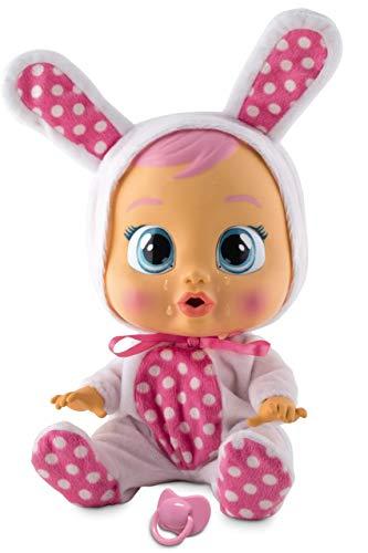 Bebés Llorones Coney - Muñeca interactiva que llora de verdad con chupete y pijama...