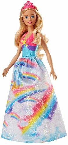 Barbie Dreamtopia, muñeca Princesa falda azul arcoiris, juguete +3 años (Mattel...