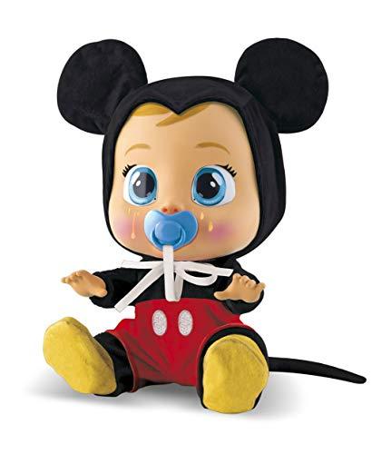 Bebés Llorones Mickey Mouse - Muñeco interactivo que llora de verdad con chupete y...