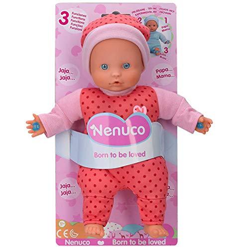 Nenuco- Muñeco Blandito 3 Funciones, hace sonidos de bebé, para niños a partir de...