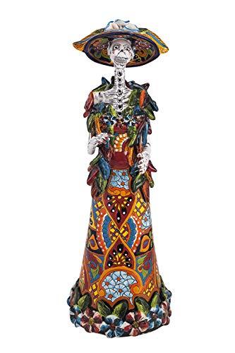 Catrina con rebozo - Figura tradicional de La catrina