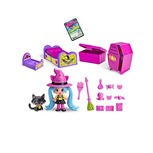 Pinypon - Habitación de Las Brujitas, con Accesorios y 1 figurita de Bruja, para...
