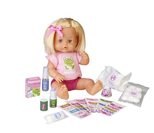 Nenuco - Cura Sana, muñeca para Jugar a los médicos con tu bebé, con tiritas de...