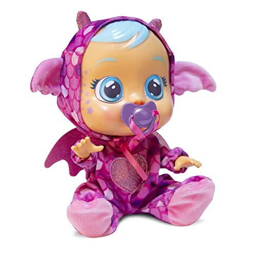 Bebés Llorones Fantasy Bruny - Muñeca interactiva que llora de verdad con chupete y...