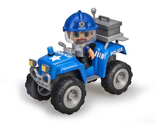 Pinypon Action - Quad con 1 Figura de policía para niños y niñas a Partir de 4 a 8...