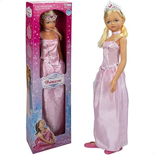 Muñeca grande 105 cm Princesa, Juguetes niños y niñas 3 años, Muñecas para...