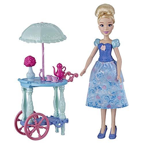 Disney Princess Juego con muñeca de Cenicienta, Carrito, Tazas de té, Tetera,...