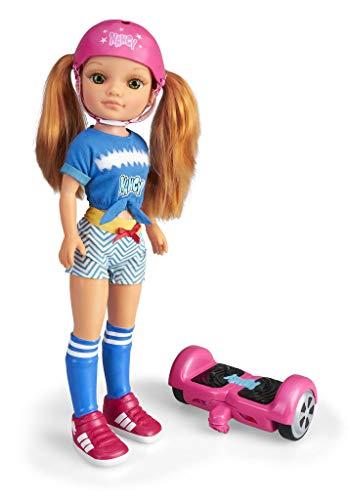Nancy - Un Día con Mi Hoverboard, Muñeca Mecánica con Patinete Hoverboard para...