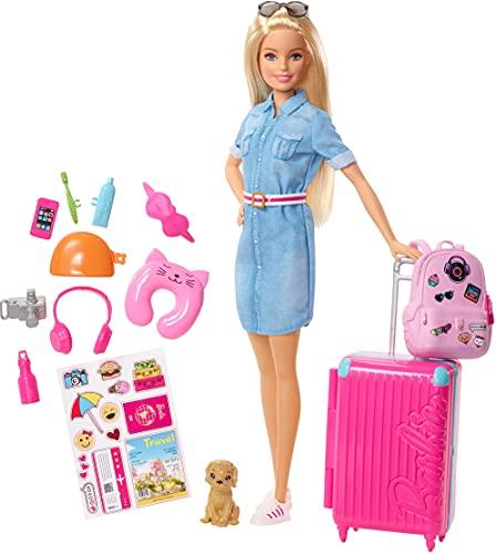 Barbie Vamos de viaje, muñeca con accesorios, edad recomendada: 3 años y mas...