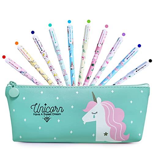 BIQIQI Unicornio Estuche Papelería Set Lápices Bolígrafos de Unicornio Escolar...