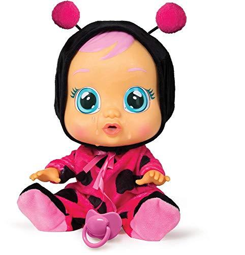 Bebés Llorones Lady - Muñeca Interactiva que llora de verdad con chupete y pijama...