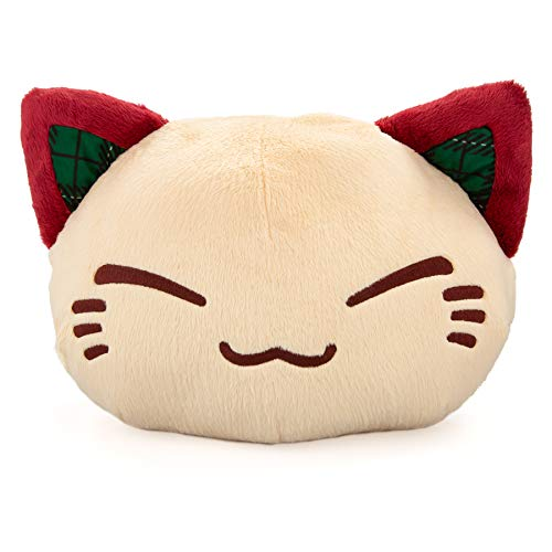 Nemu Nemo Neko - Peluche de gato beige y rojo – Manga Anime Otaku Kawaii –...