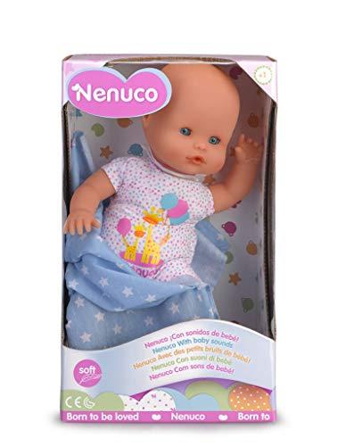 Nenuco Recién Nacido - Muñeco Infantil con Sonidos de Bebé (Famosa 700015452)