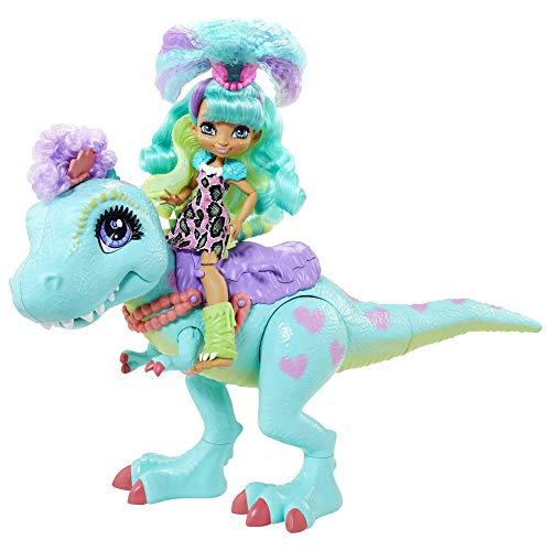 Cave Club Muñeca Rockelle con Mascota Dinosaurio Azul, conjunto con accesorios para...