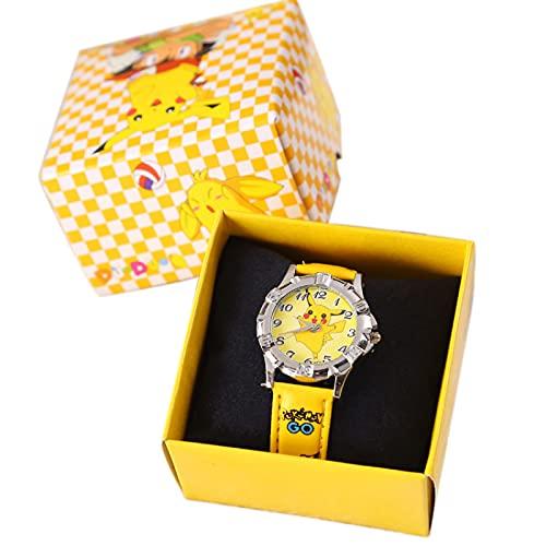 Rpporm Pikachu Relojes Pokemon silicona Durable reloj niños cuarzo muñeca dibujos...