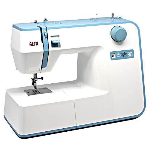 Alfa Máquina de Coser, Style 30, Azul Cielo, 19 Puntadas, 30 x 19 x 41 Cm,...