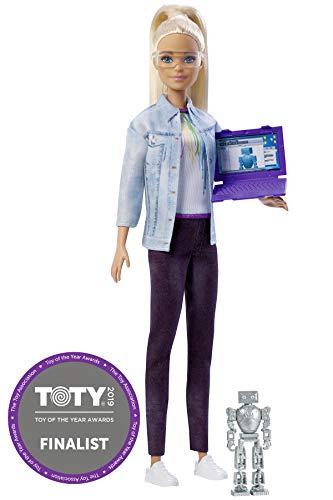 Barbie Quiero Ser ingeniera robótica, muñeca rubia con accesorios (Mattel FRM09)