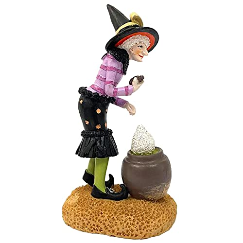Adorno de Resina de muñeca de Bruja de Halloween, Adornos Decorativos encantadores...