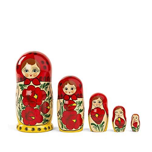 FANMEX - Fantastik - Auténtica muñeca Rusa matrioska maidan 5 Piezas / 18 cm