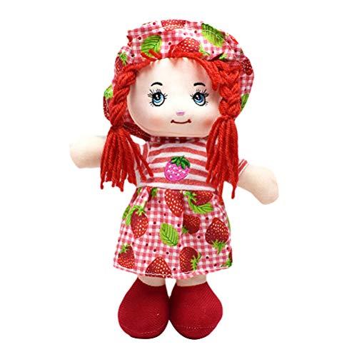 Daxoon 25CM Girl Doll Fruit Rock Muñeca de Trapo Suave con Sombrero para niños...