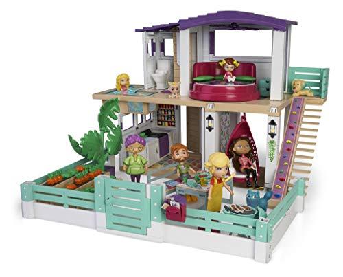 Mymy City- Holiday House, Casita de muñecas amueblada, para niños y niñas a partir...