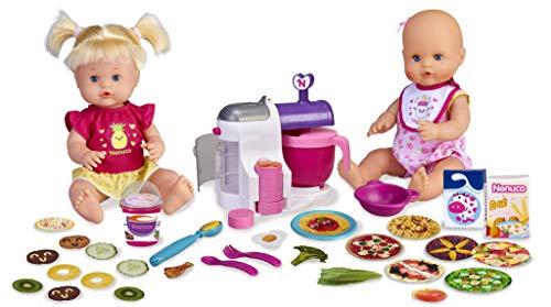 Nenuco - Hermanitas Traviesas en la Cocina, 2 Muñecas Bebés Comiditas, Multicolor,...