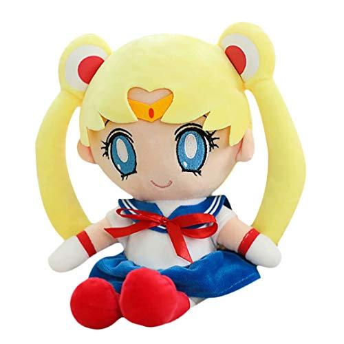 Sailor Moon Muñeco De Peluche Kawaii Japonés Clásico Dibujos Animados Personajes...
