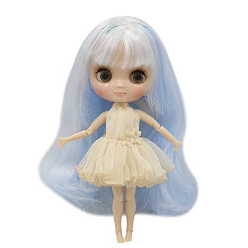 ASDAD BJD Nude Doll 1/6 SD Doll Blyth Nude Middie Blythe Doll Baby Blue Mix White...