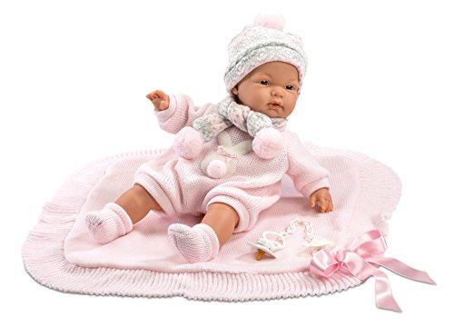 Llorens Muñeca Joelle 38938, con Ojos Azules y Cuerpo Blando, muñeca de bebé,...