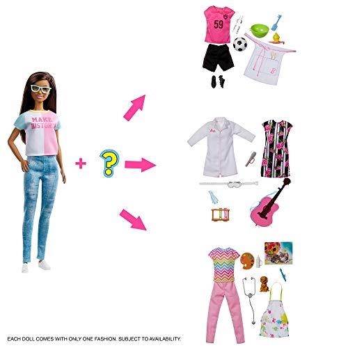 Barbie Quiero Ser - Muñeca con accesorios y profesiones sorpresa (Mattel GFX86)