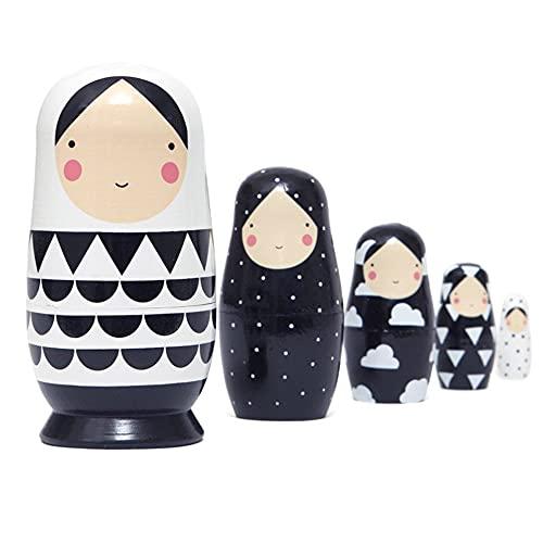 Muñeca de Dibujos Animados Matrioska Juegos de Muñecas Rusas Niña Pintados...