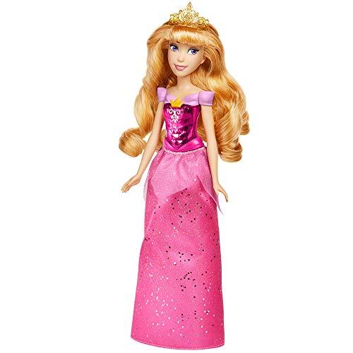 Disney Princess Muñeca de Aurora Royal Shimmer, muñeca con Falda y Accesorios,...