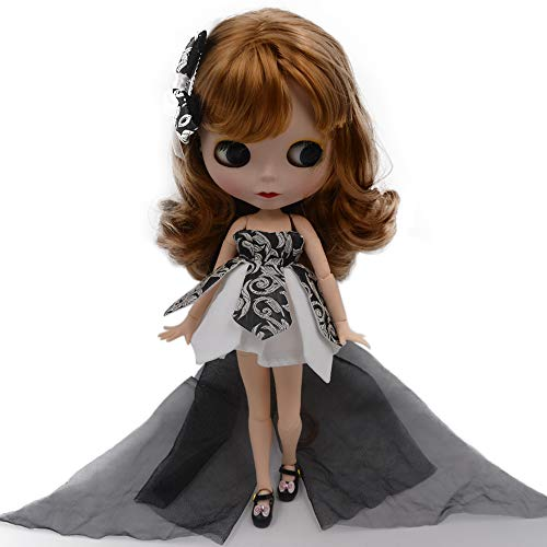CUTEBEE 1/6 BJD Doll is Similar to Neo Blythe, 4-Color Changing Eyes Matte Face and...