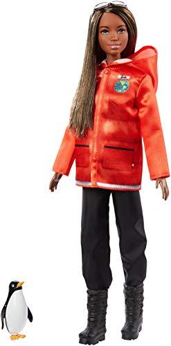 Barbie National Geographic Quiero Ser Bióloga Marina, muñeca con accesorios (Mattel...