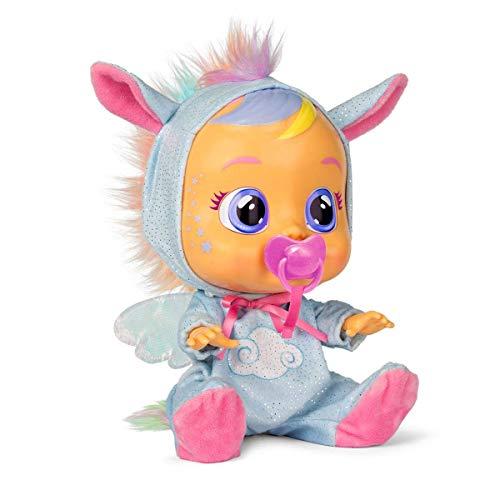 Bebés Llorones Fantasy Jenna - Muñeca Interactiva que llora de verdad con chupete y...