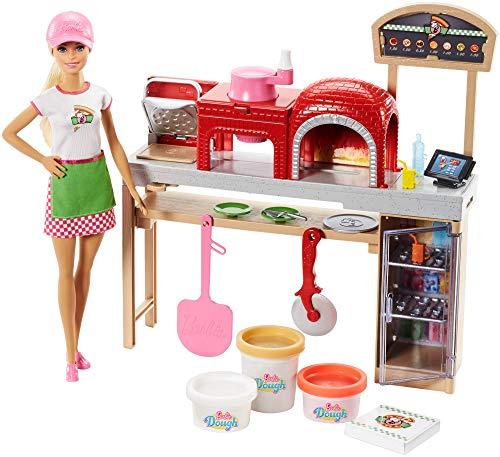Barbie Quiero Ser pizza chef, muñeca y accesorios de juguete, regalo para niñas y...