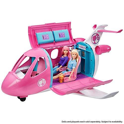 Barbie Avión de tus sueños, avión de juguete con accesorios para muñecas (Mattel...